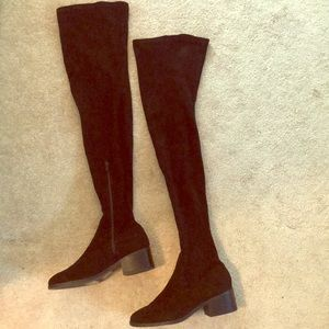 Forever21 faux suede over the knee boots